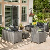 Furst 9 Piece Sofa Seating Group with Cushions by Wade Logan
