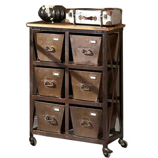 Silvestri Industrial Iron 6 Drawer Chest by Williston Forge