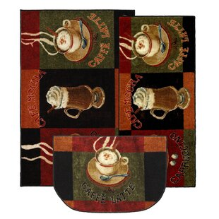 Lemasters 3 Piece Kitchen Caffe Latte Area Rug Set