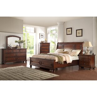 American Heritage Queen Platform 5 Piece Bedroom Set