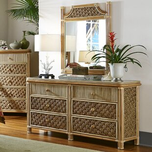 Jovani 6 Drawer Double Dresser with Mirror