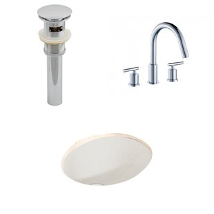 Purchase Ceramic Oval Undermount Bathroom Sink with Faucet and Overflow ByAmerican Imaginations