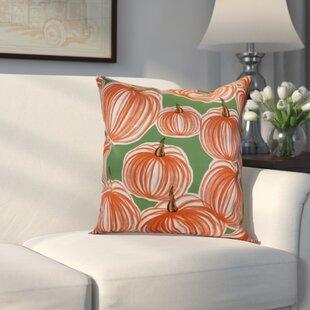 Miller Pumpkins-A-Plenty Geometric Outdoor Throw Pillow