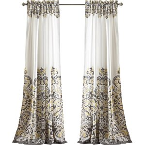Pierre Paisley Blackout Thermal Rod Pocket Curtain Panels (Set Of 2)