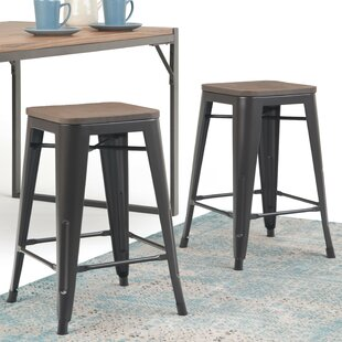 Read Reviews Key 24 Bar Stool (Set of 2) by Williston Forge Reviews (2019) & Buyer's Guide