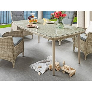 Ludovico Polyrattan Dining Table By Sol 72 Outdoor