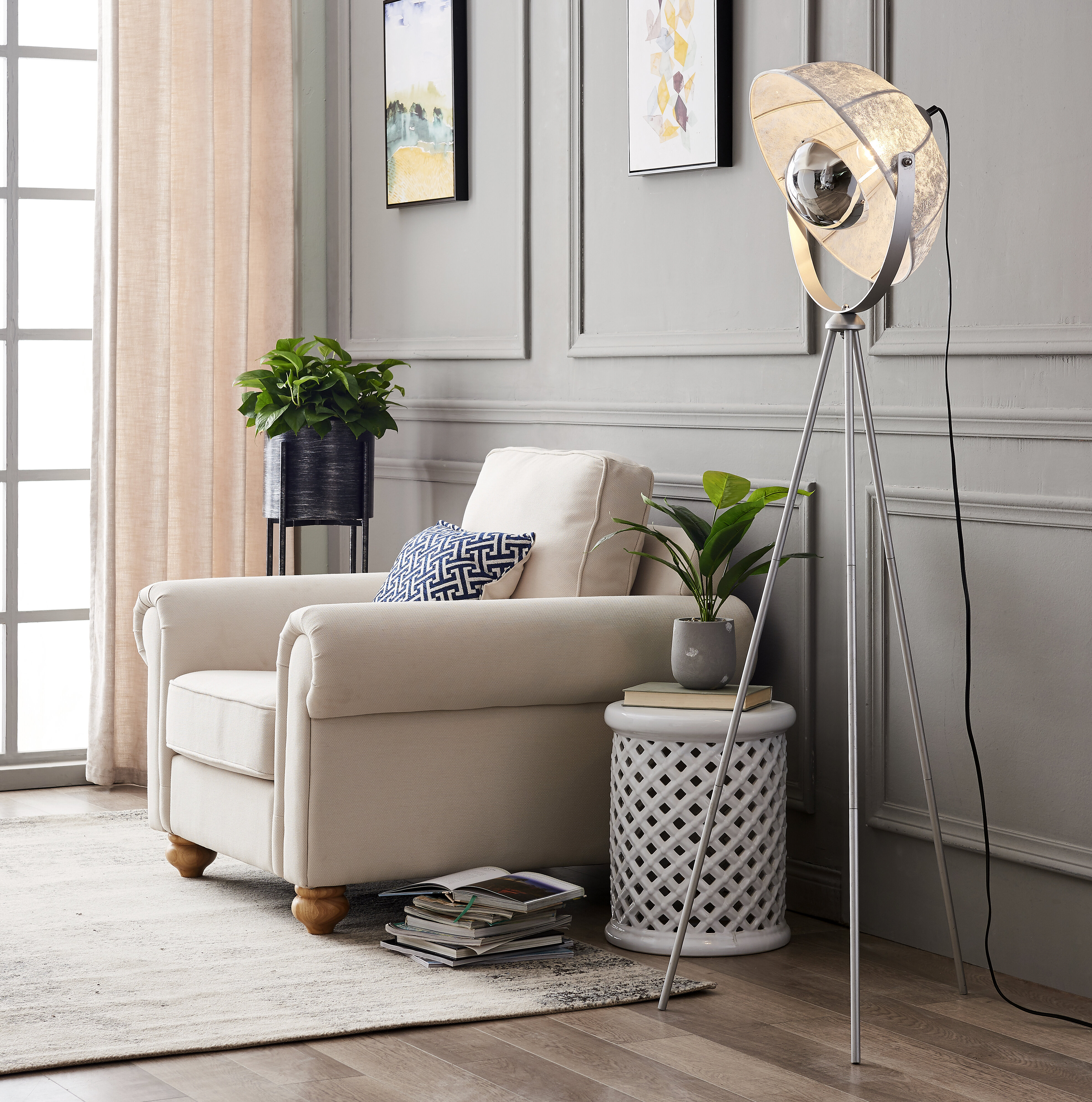 Williston Forge Brockington Spoon 63 Tripod Floor Lamp Reviews Wayfair