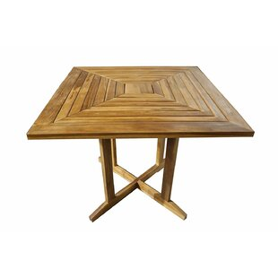 Burgess Solid Wood Dining Table by Millwood Pines