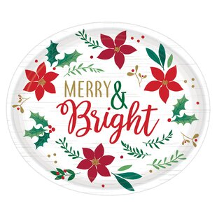 Christmas Wishes Paper Dinner Plate (Set of 8)