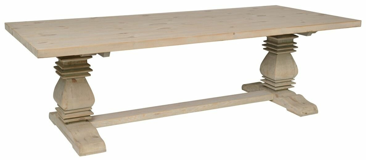 suzette reclaimed pine dining table - Pine Dining Table