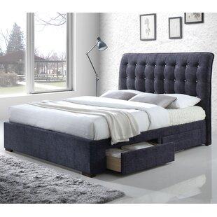 Brayden Studio Finn Upholstered Storage Sleigh Bed