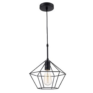 Zeshoek Hanging Cage 1 Light Geometric Pendant by OHR Lighting