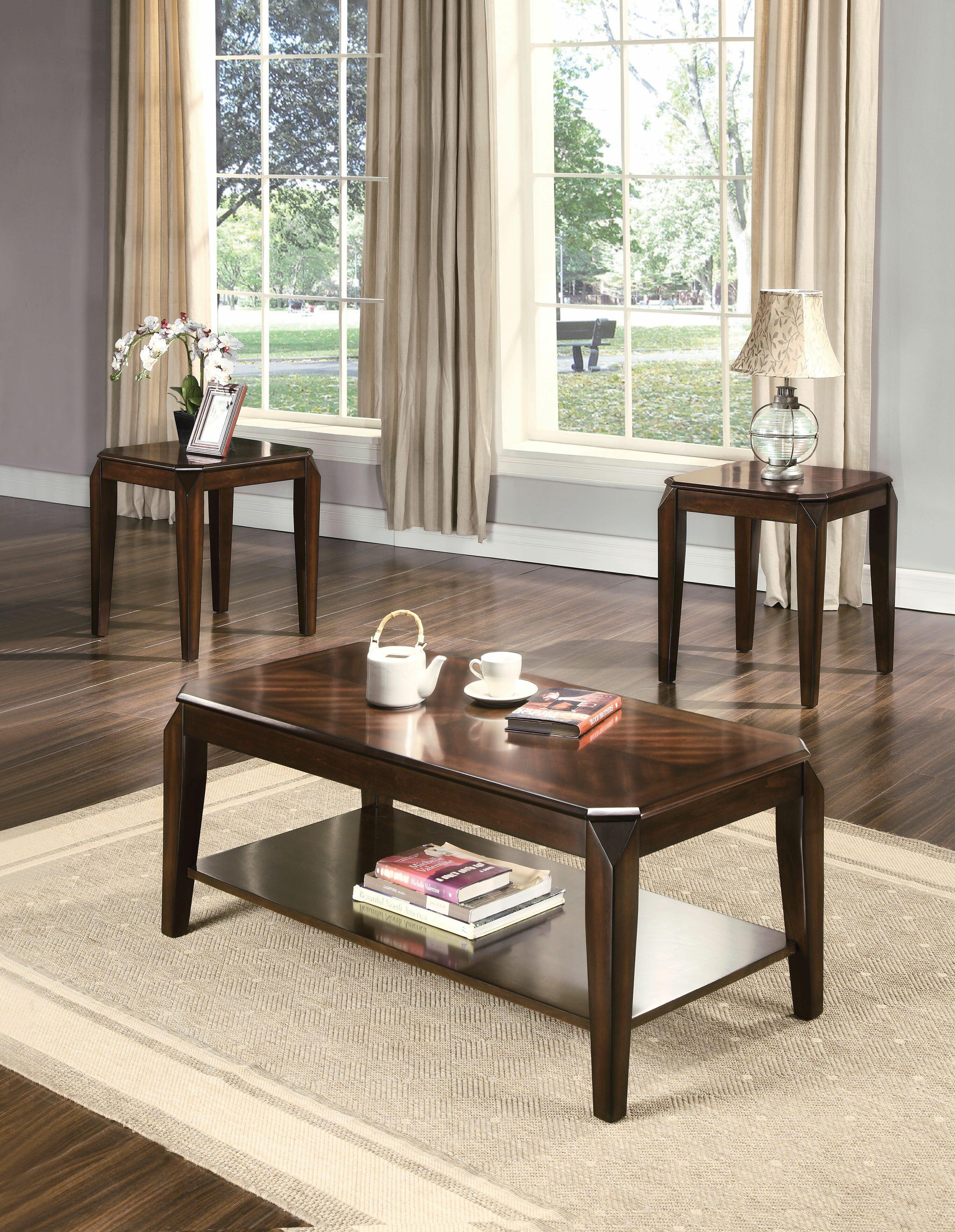 Canora Grey Karon 3 Piece Coffee Table Set Reviews Wayfair