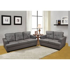 Declan 3 Piece Living Room Set by Beverly Fi..