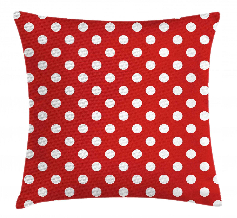 East Urban Home Vintage Polka Dots With Big Indoor Outdoor Polka Dots 40 Throw Pillow Cover Wayfair