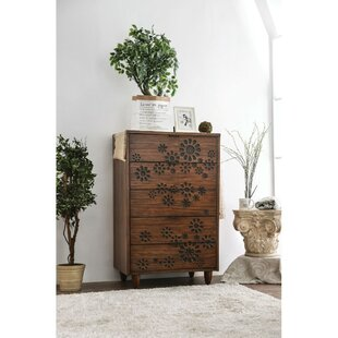 Alsacia Transitional Solid Wood 5 Drawer Chest