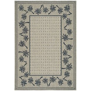 Amaryllis Coffee/Black Indoor/Outdoor Area Rug