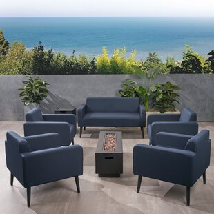 Breckenridge Outdoor 7 Piece Sofa Seating Group with Cushions