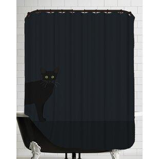 Blackcat Single Shower Curtain
