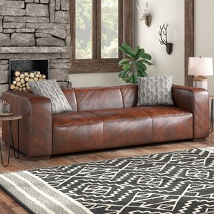 Shop Sherron Leather Sofa by Union Rustic