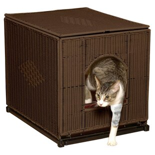 refined xlarge cat litter furniture from the box feline htm mahogany