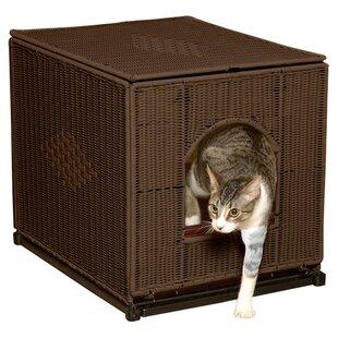 cat silooakclosed litter furniture box oak rated top best cabinet