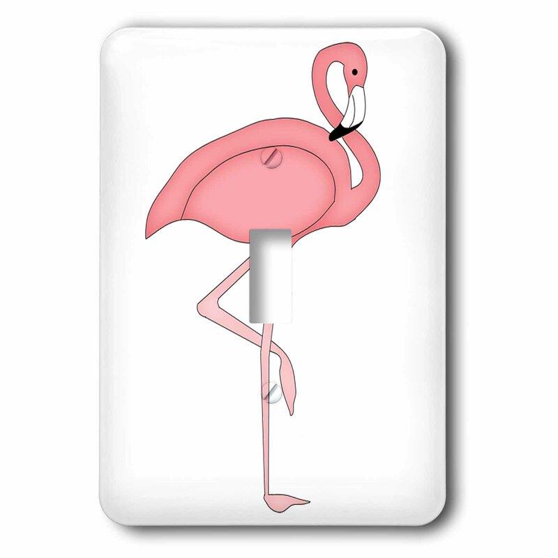 3drose Cute Flamingo 1 Gang Toggle Light Switch Wall Plate Wayfair