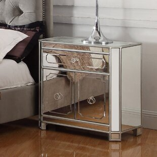 Reviews 1 Drawer Nightstand by BestMasterFurniture