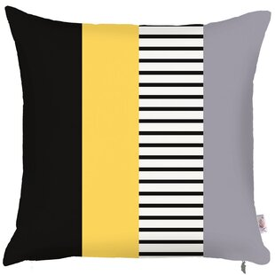 Kinman Square Stripes Printed Pillow Cover
