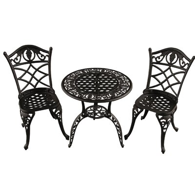 Casella Grape 3 Piece Bistro Set by Fleur De Lis Living Best #1