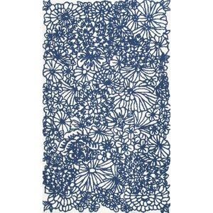 Steve Hand-Hooked Blue Area Rug