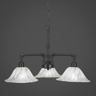 Williston Forge Kash 3-Light Shaded Chandelier