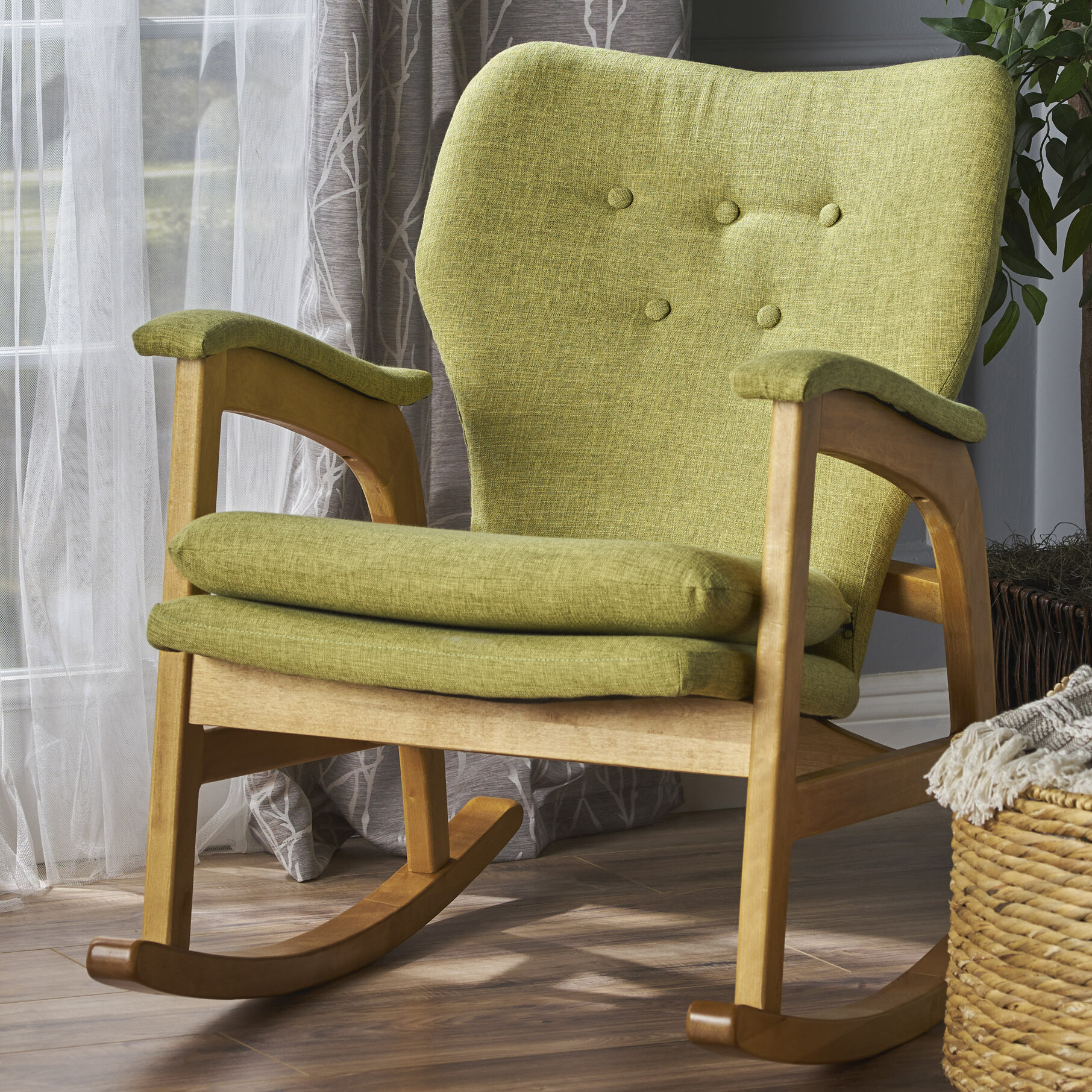 Brayden Studio Saulsberry Fabric Rocking Chair U0026 Reviews   Wayfair