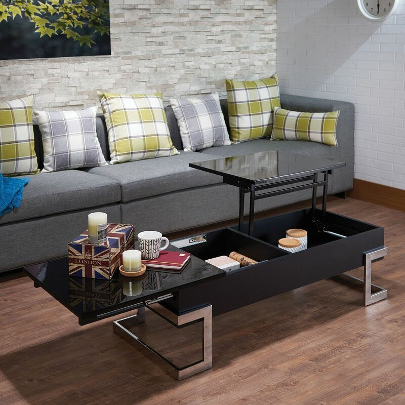 Orren Ellis Tiernen Lift Top Sled Coffee Table With Storage Wayfair