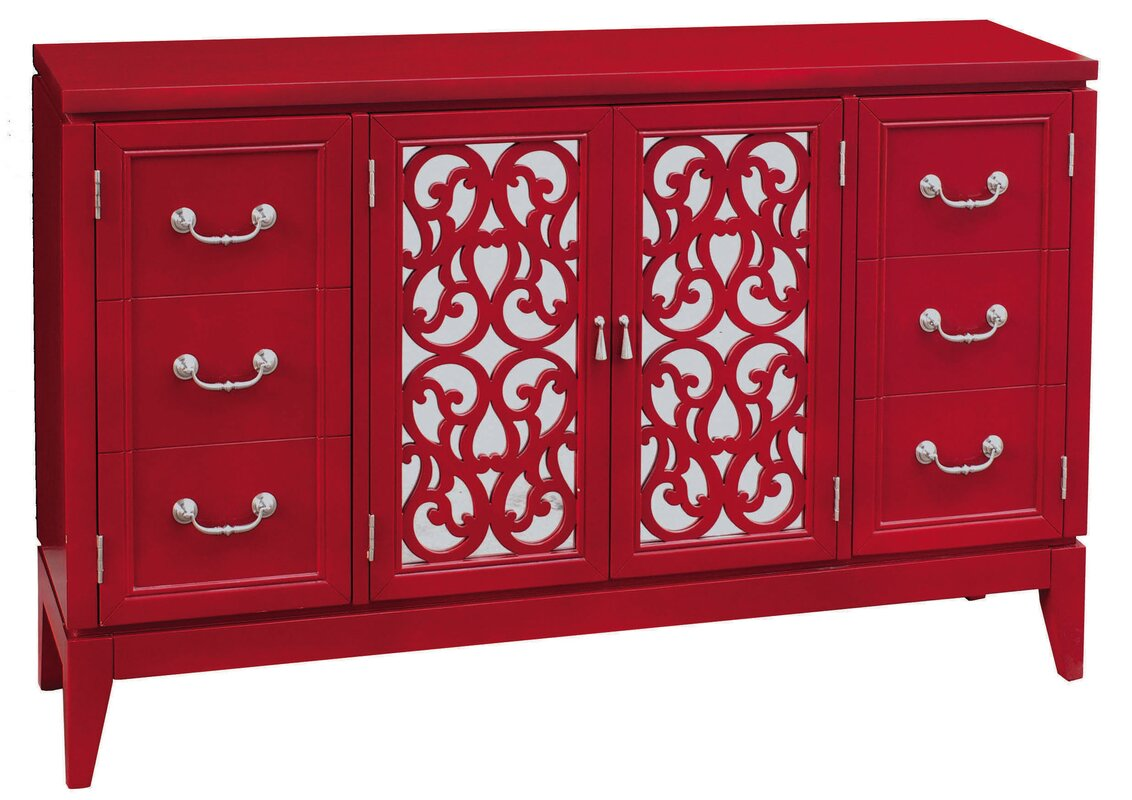 Exceptional Mitchell Console 4 Door Accent Cabinet