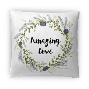 Amazing Love Fleece Throw Pillow