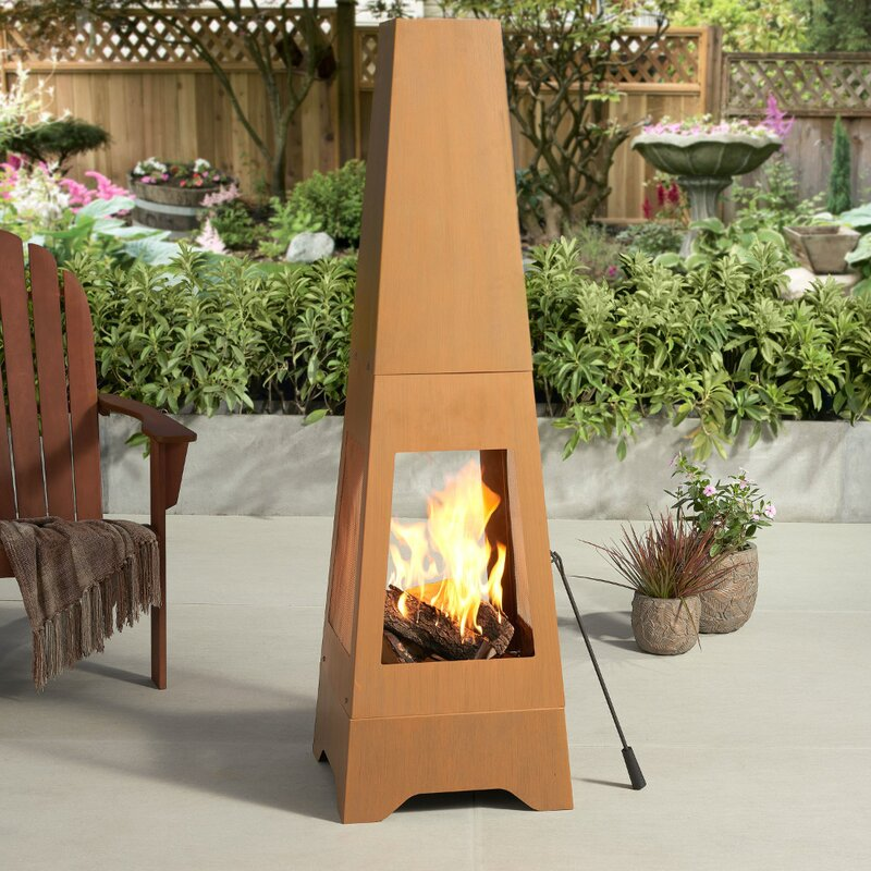 Arlmont Co Bicester Steel Wood Burning Chiminea Wayfair