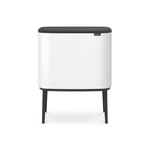 Müllcontainer mit mehreren Fächern Bo Touch mit Touch-Deckel Brabantia Farbe: Weiß| Innenraum-Volumen: 2 Inneneimer: 23 L und 11 L | Büro > Büroschränke > Container | Brabantia