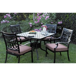 Astoria Grand Mccraney 5 Piece Dining Set with Cushions