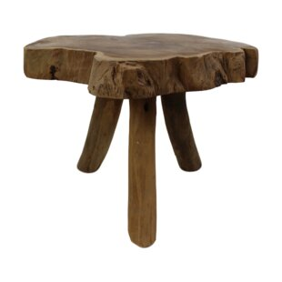 Yellow Pine Abstract Decorative Stool By Union Rustic