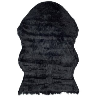 Shop For Isacc TuftedFaux Sheepskin Black Area Rug ByWilla Arlo Interiors