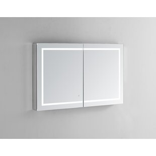 Compare Donnie 48 x 30 Recessed or Surface Mount Frameless Medicine Cabinet with 3 Adjustable Shelves and LED Lighting By Orren Ellis