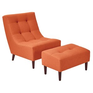 Martha Lounge Chair and Ottoman
