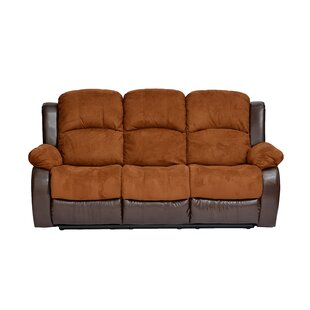 Traditional 2 Tone Recliner Reclining Sofa by Madison Home USA