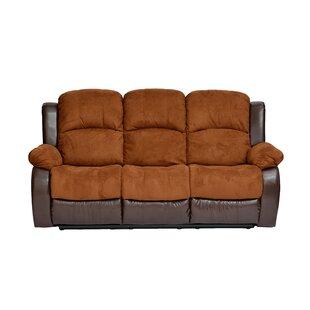 Traditional 2 Tone Recliner Reclining Sofa Madison Home USA
