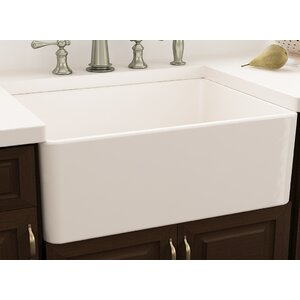 Cape 30″ x 18″ Farmhouse Kitchen Sink with Sink Grid