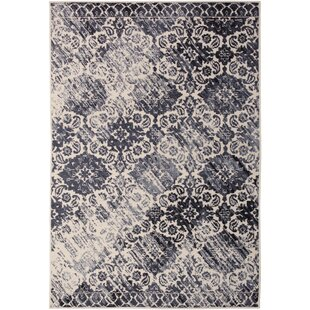 Affordable Bonner Navy Blue/White Area Rug By Bungalow Rose
