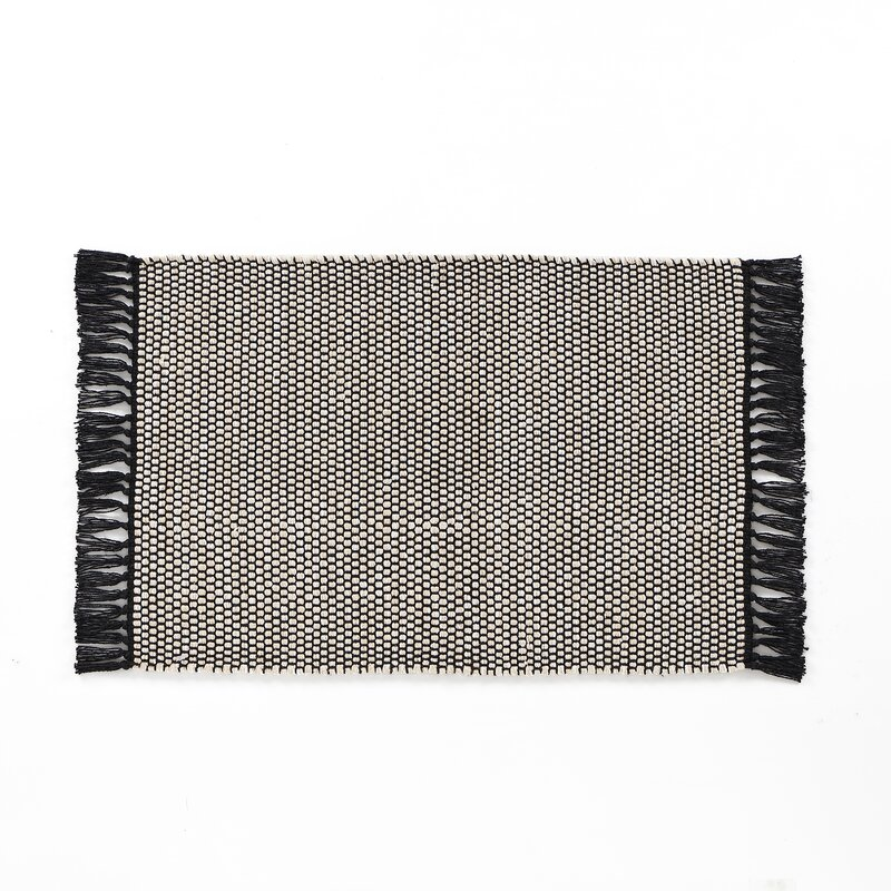 Breakwater Bay Feemster Solid Scatter Gray Area Rug, Size: Rectangle 30 x 46