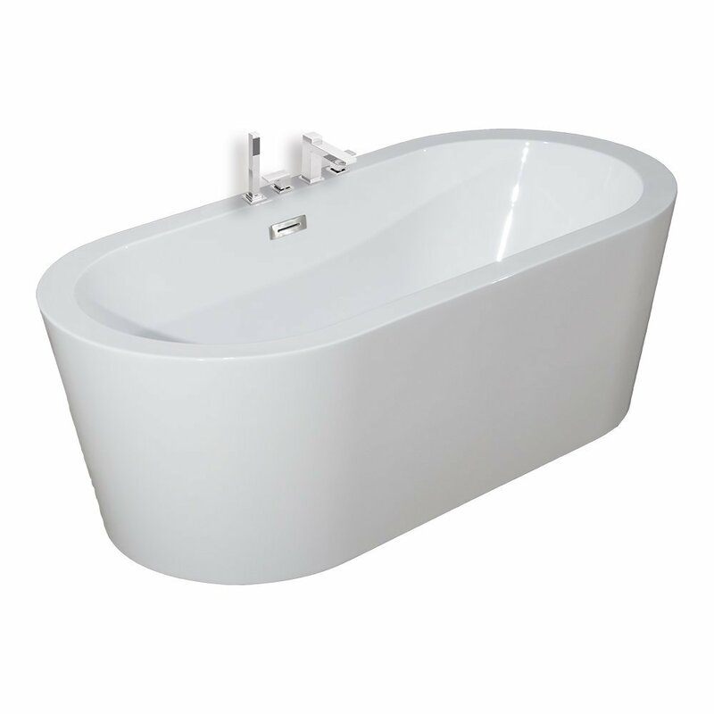 "59"" x 30"" Freestanding Soaking Bathtub"
