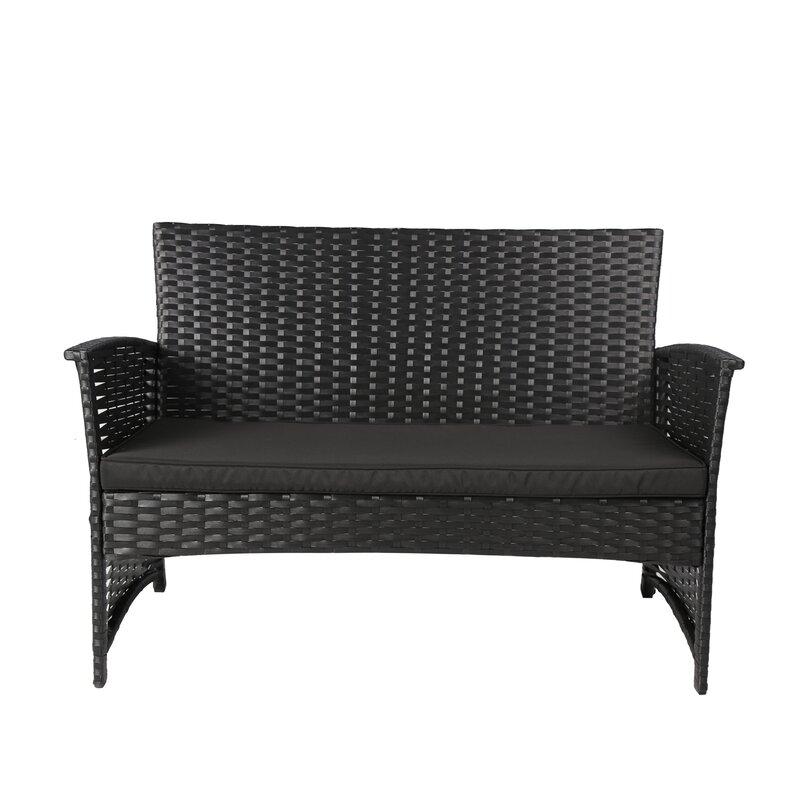 Baner Garden 4 Piece Rattan Sofa Set with Cushions Reviews Wayfair